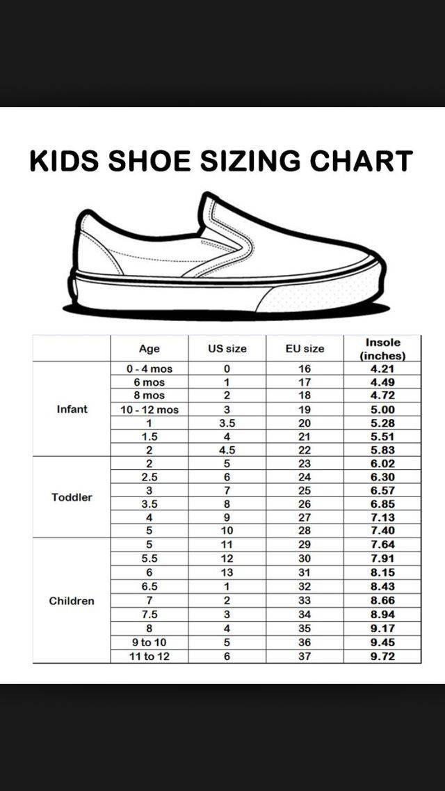 infant eu shoe size