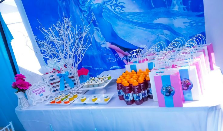 Frozen candy table
