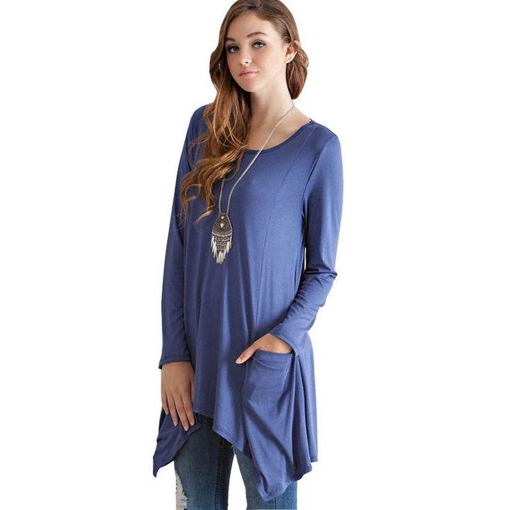 JuLee Long Sleeve Shirt with Pockets