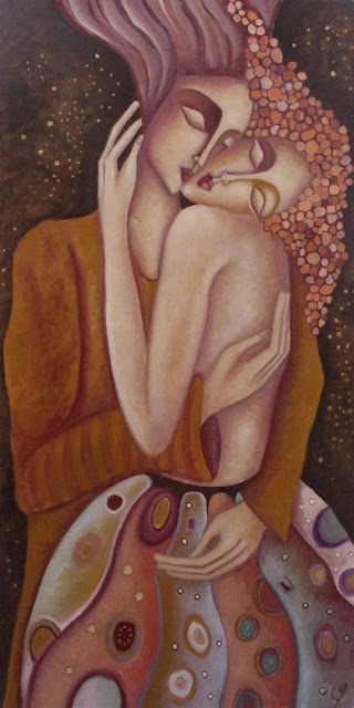 """Ingrid Tusell's painting expresses this paragraph from my book: """"The male and…"""