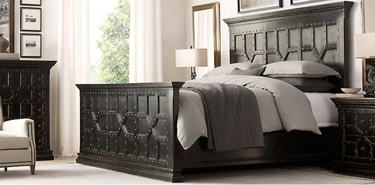 Bedroom Sets Restoration Hardware restoration hardware 17th c. castello bed shown in antiqued black