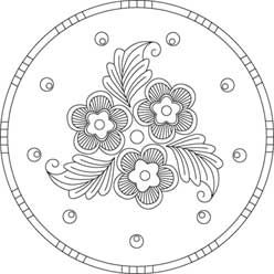 Pattern Detail | Arts & Crafts Round Floral | Needlecrafter