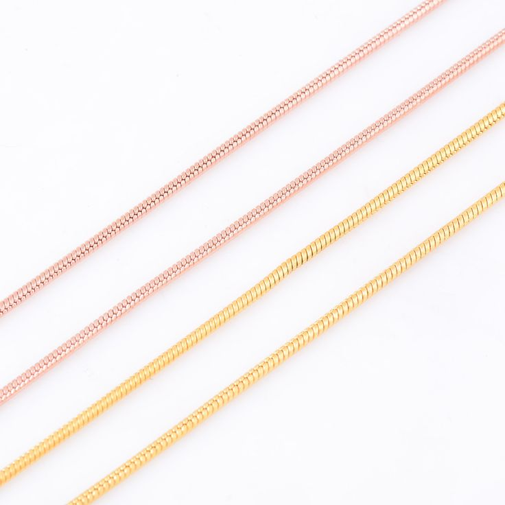 1.5mm Width Men And Women Gold/Rose Gold Round Snake Necklaces 316L Stainless Steel Necklace Chains Jewelry Christmas Gifts