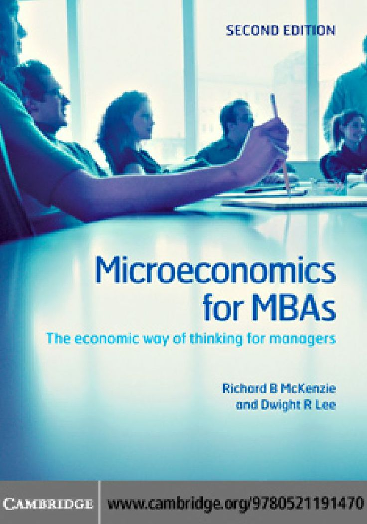 The textbook that develops the economic way of thinking through problems that MBA  students will find relevant to their career goals. Theory and math is kept as simple as possible and illustrated with real-life scenarios. This textbook package includes online video tutorials on key concepts and complex arguments, and topics likely to be assessed in exams.