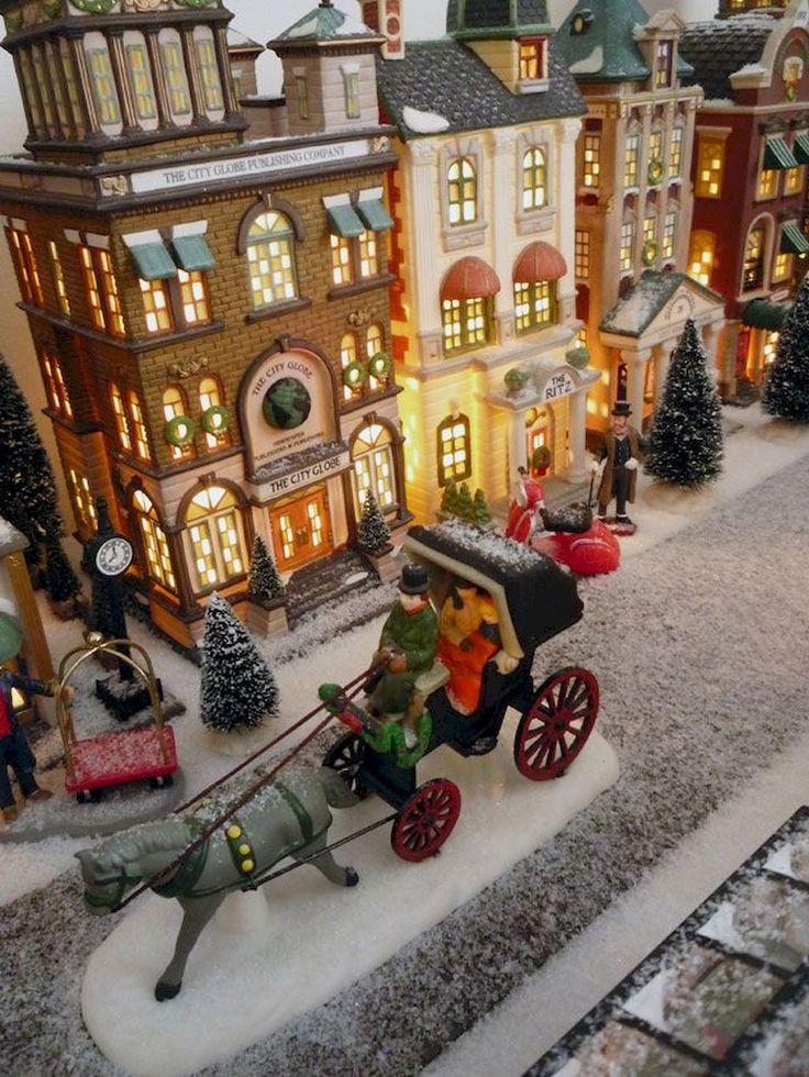 50 Christmas Village Window Display Ideas - Home to Z