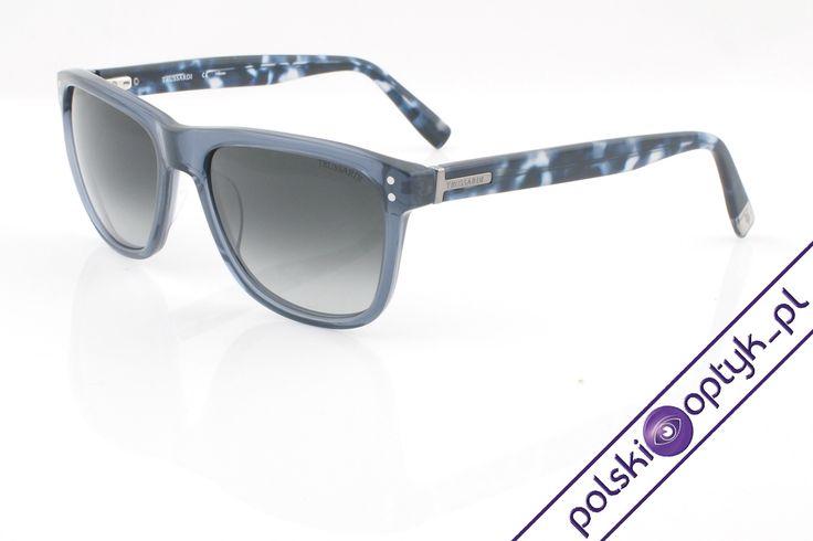 Okulary przeciwsłoneczne damskie Tru Trussardi TR 12945 BL  #okulary #glasses #eyewear #eyeglasses #oprawki #sunglasses #trussardi