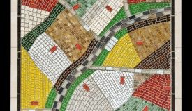 Well! Well! Well!- large hand cut glass mosaic with tiles