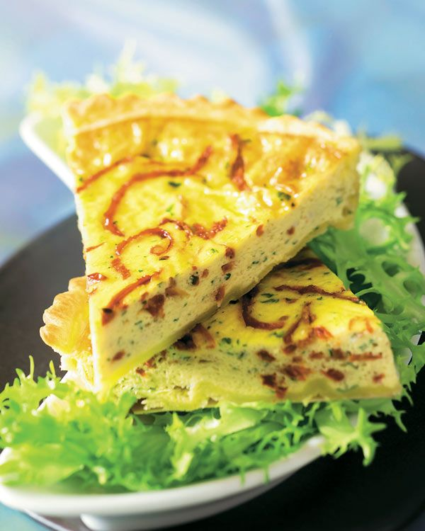 Quiche de bacalao con escarola #recetas