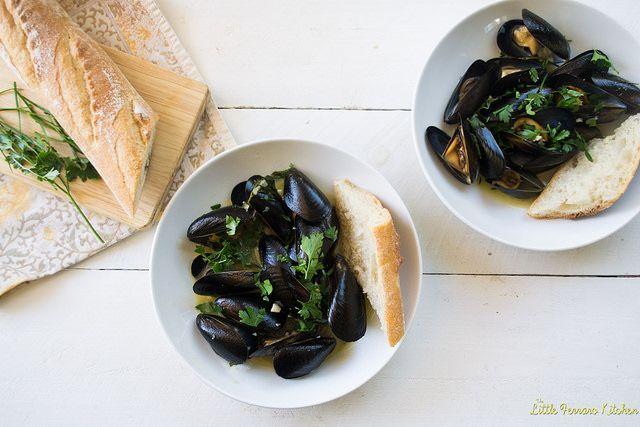 Julia Child's Mussels Mariniere.