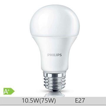 Bec LED Philips 10W E27 forma clasica A60, lumina rece