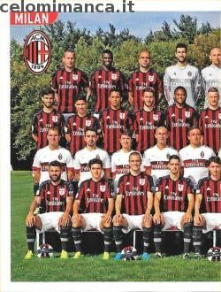 Calciatori 2015-2016: Fronte Figurina n. 356 Squadra/1 Milan