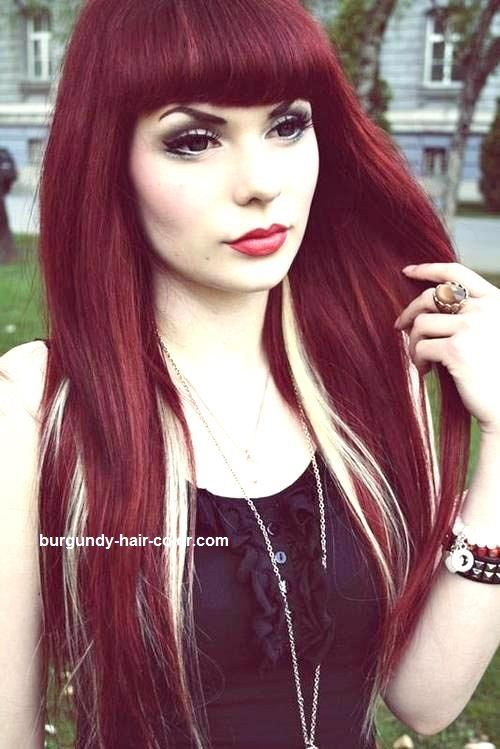 54 best hair images on pinterest colors hair and hair makeup dark red hair color with blonde highlights here httpburgundy pmusecretfo Image collections