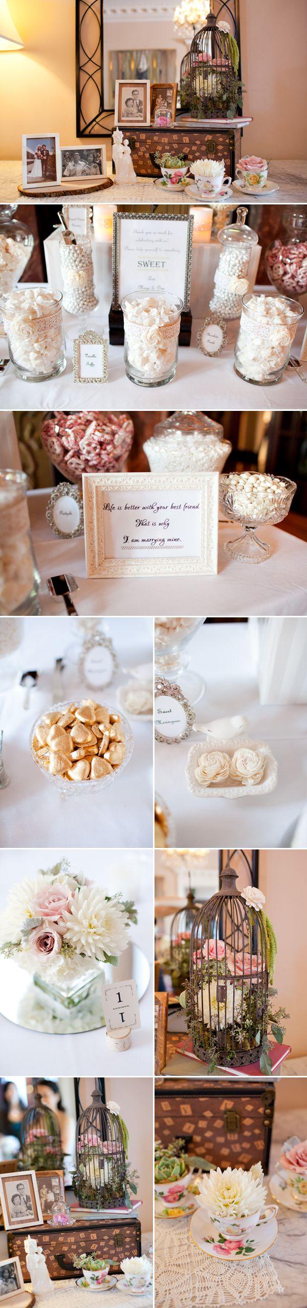 White and Gold Wedding. A Romantic Vintage Wedding – Maggie & Haydex