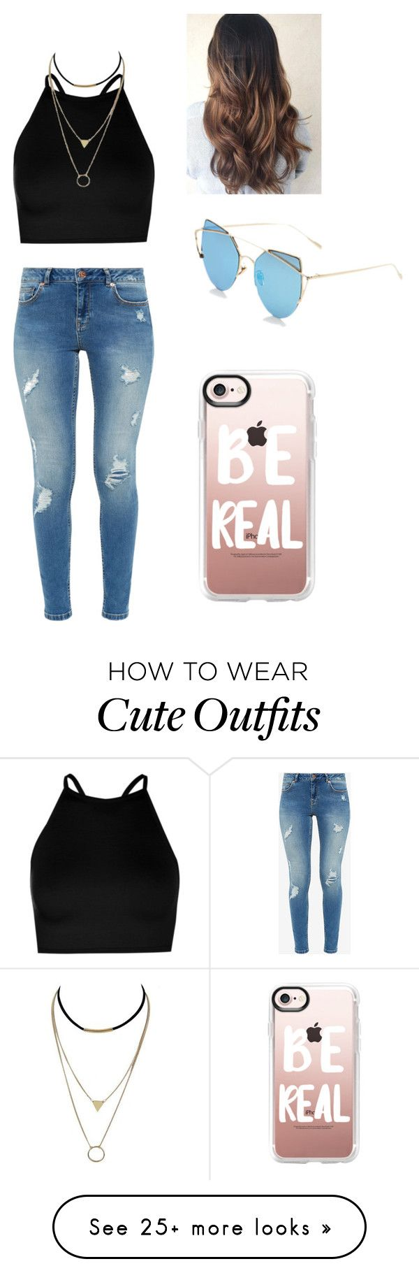"""Cute outfit"" by rainbow2570 on Polyvore featuring Boohoo, Ted Baker, Supa Sundays and Casetify"