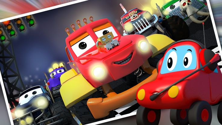 """Monster Truck Dan is back in the second episode of clash of giants, """"Dawn of the race"""". Watch as Sparrow and Dan go head to head with the bullies Muertos, Ryno & Tatanka. Celebrate this Olympics with a monster truck show down! #monstertruck #monstertrucks #kids #dan #cartooncars #kidsvideo #olympics #rio #2016 #olympics2016 #race #clashofgiants"""