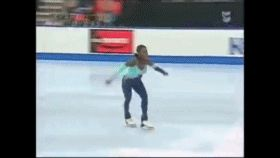 they outlawed this move just because she was the only woman who could do it. Surya Bonaly was infamous for (among other things) doing aone bladebackflip in the 1998 Olympics, and is the ONLY figure skater who's ever pulled that off. Not just the only woman, the only figure skater PERIOD. There's like all ofthreeOlympic-class male skaters who did backflips in their routines, and NONE of them could do it one blade.