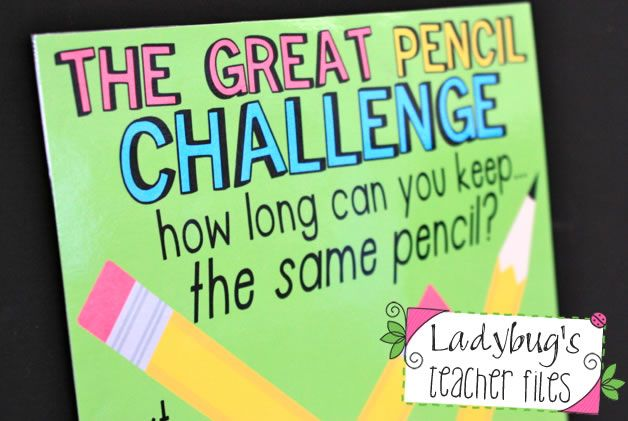 The Great Pencil Challenge (managing pencils!) I will be doing this next year!!