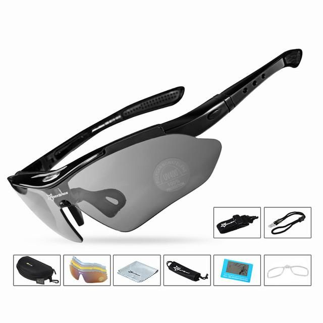 5 Lenses Professional Polarized TR90 Sun Glasses It Has