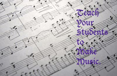 Teaching music composition in the classroom.