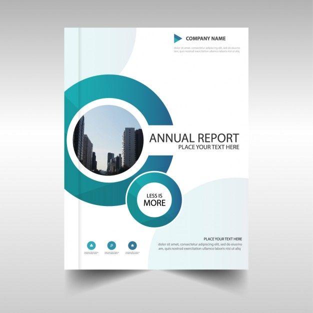 círculo azul design do modelo do relatório anual Vetor grátis