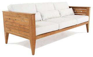 Craftsman Teak Sofa - modern - outdoor sofas - by Westminster Teak Furniture
