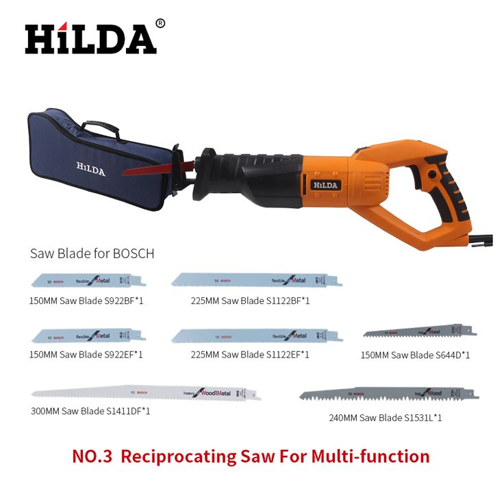 HILDA 950w Reciprocating Saw Woodworking Electric Saw 6 Speed Portable Electric Saws 220v/50hz Scroll Saw Jig Saw For Multi-func