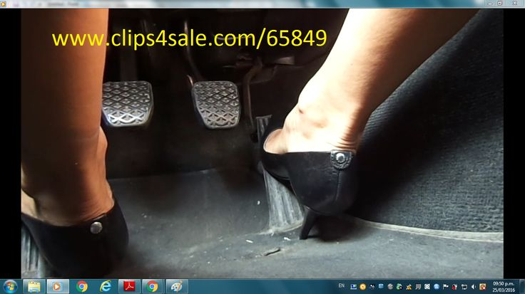 Pedal Pumping Flooring : Best high heels pedal pumping driving in stiletto