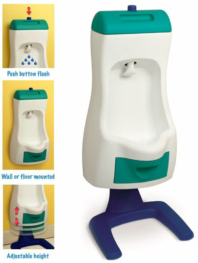 "I DIDN'T KNOW THEY MADE THESE!!! (potty training for boys) OMG this is amazing... this world have saved me from so much cleaning around the toilet from all of the ""misses""!!!"