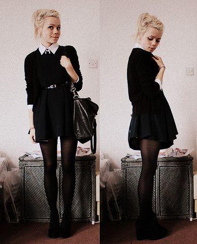 Ben Sherman Shirt, Second Hand Dress, H Cardigan, Ebay Boots/Shoes/Whatever - Choosing universities D: - Kate G