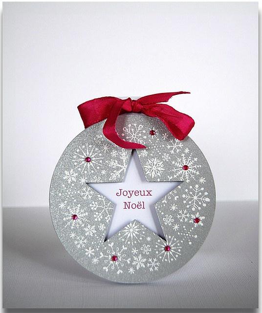 joyeux no l carte ronde by agata dag happy christmas scrapbooking pinterest. Black Bedroom Furniture Sets. Home Design Ideas