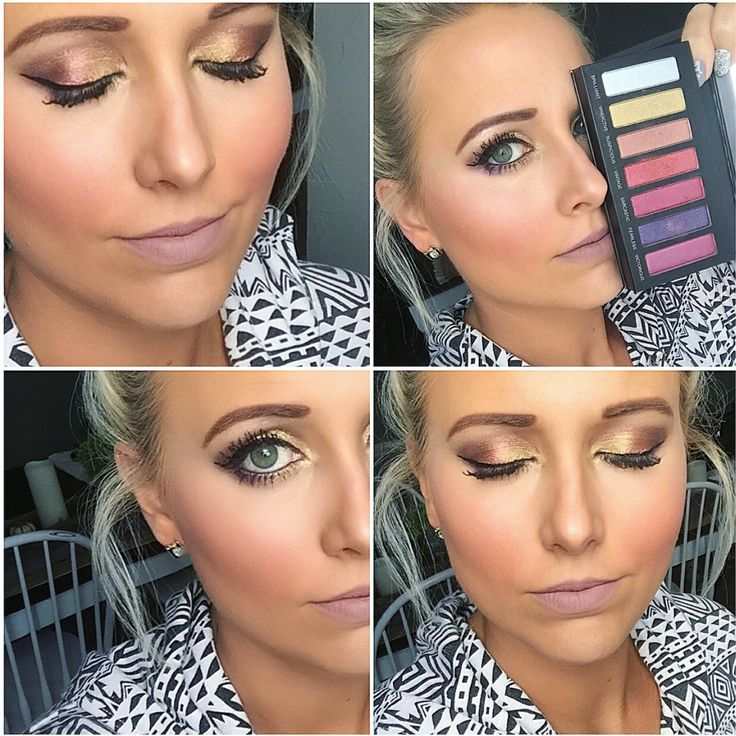 Younique Addiction Eye Shadow Palette number 5 and Plush lip liner. Complete mak...