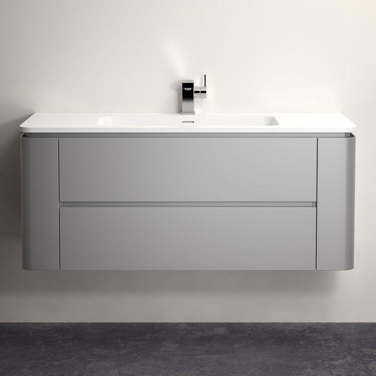 Lusso Stone Fontane Matt concrete grey vanity unit and basin | Vanity Units