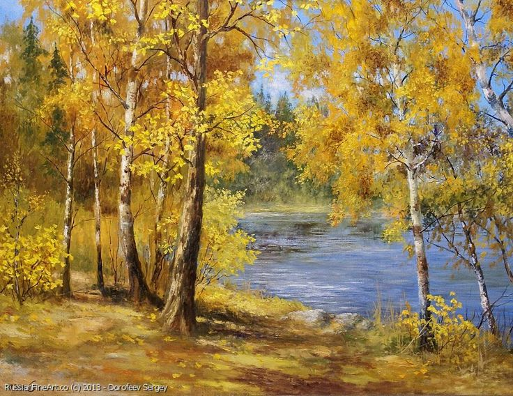 """The Autumn Gold"" - oil, canvas http://www.russianfineart.co/catalog/prod.php?productid=21253 Artist: Dorofeev Sergey"