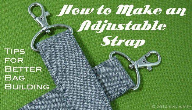 Betz White:  tips: adjustable strap