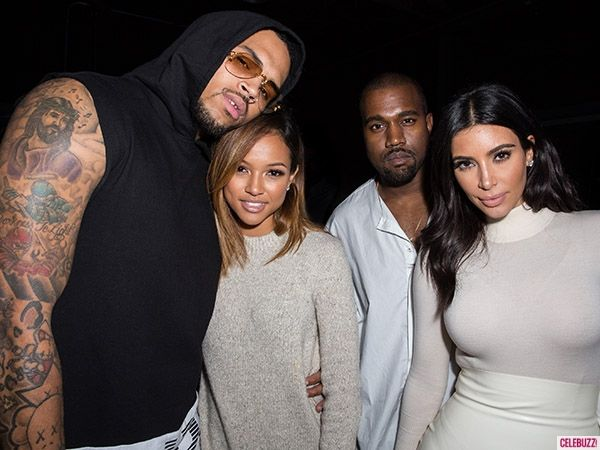 Kim K didn't want to take a picture with Chris Brown's girlfriend because...