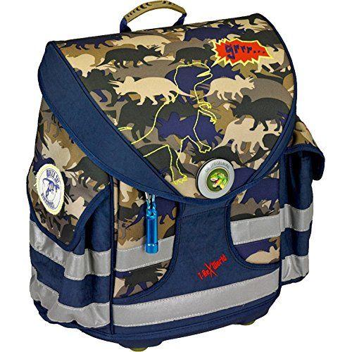 Die Spiegelburg Schulranzen-Set 4-tlg Ergo Style plus T-Rex World Camouflage t-rex world camouflage