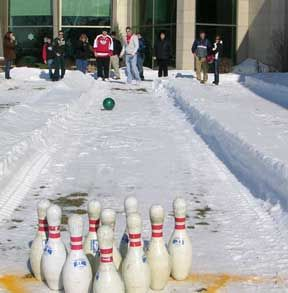 Ice Bowling. Student Activities At University Of Wisconsin   Fond Du Lac