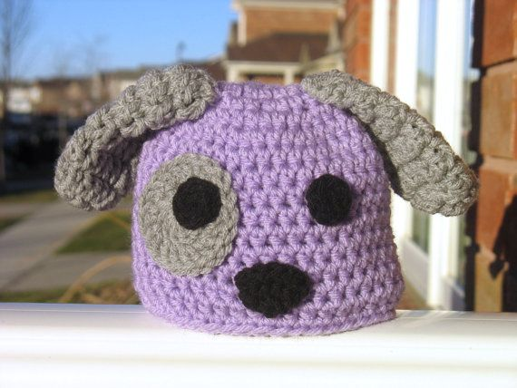 Newborn Puppy Hat Newborn Hat Baby Puppy Hat by DeesCozyCreations