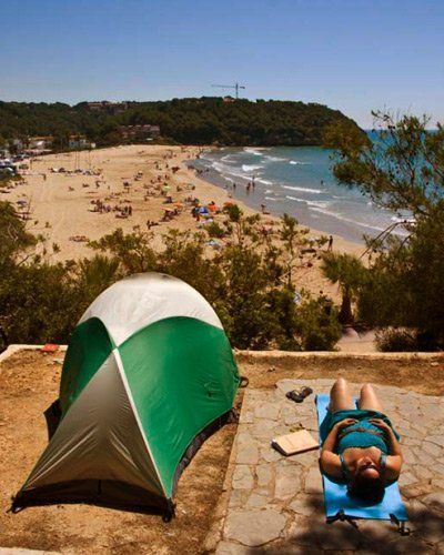 Spanien: Beach-Camping an der Costa Dorada