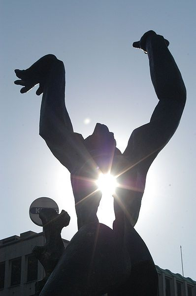 Zadkine - Rotterdam, the Netherlands. The statue symbolizes the destruction of Rotterdam by German bombs in WWII.