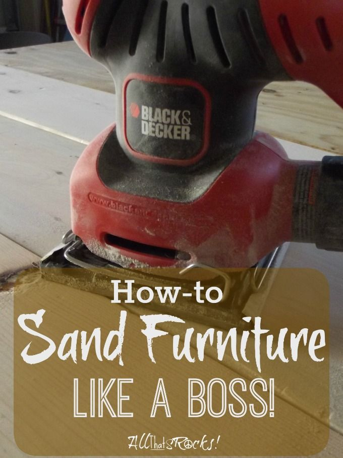 Sanding Furniture the right way. Great tips to get furniture ready for stain or paint. | AllThatSrocks.com