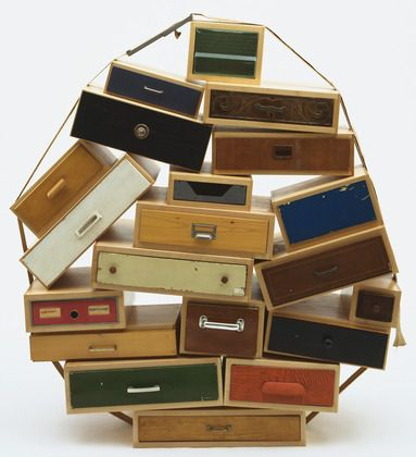 (Art resembling furniture) Tejo Remy. You Can't Lay Down Your Memory Chest of Drawers