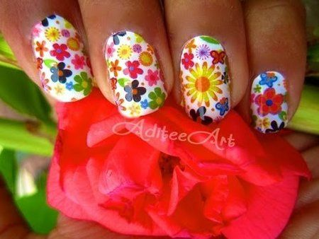 How To: Dollar Store Nail Wraps! #nailart #nails #white #red #yellow #multicolor