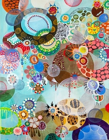 Bumbleberry by Melinda Hackett #colorful #abstract #circles