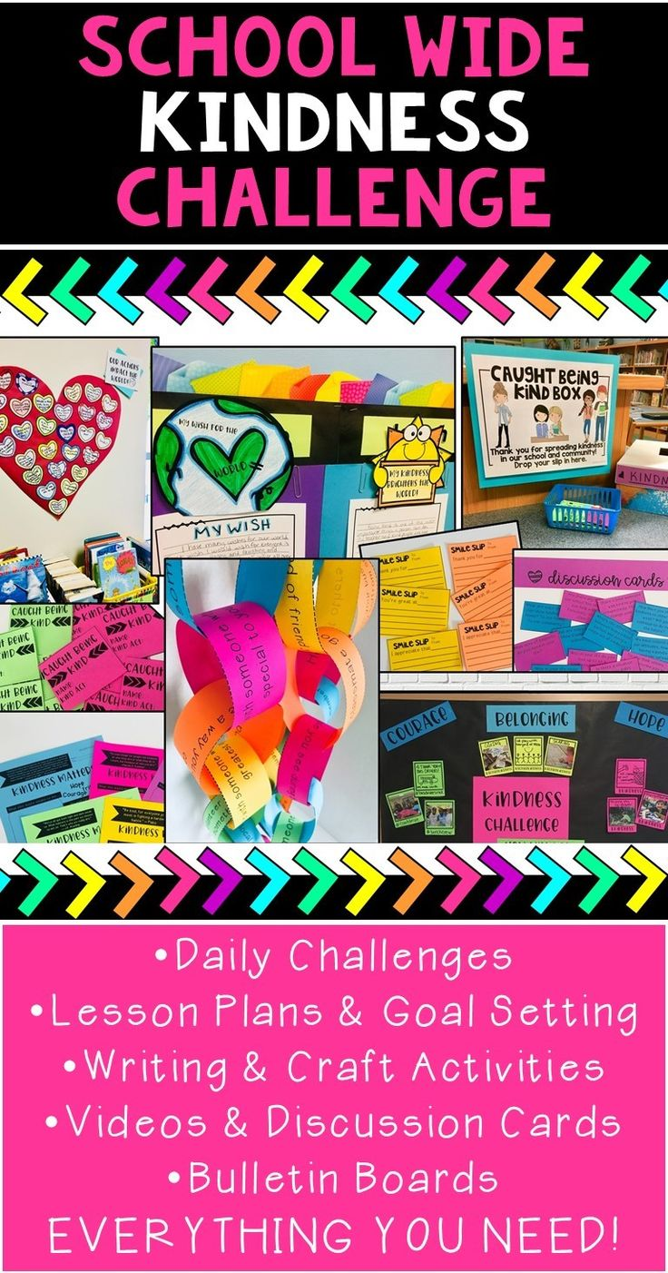 A school wide kindness challenge is an amazing way to build community & character, boost morale, and have fun encouraging others at your school! This resource has everything you and your school need to implement this ready to go kindness program!