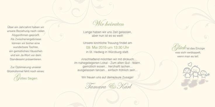 Hochzeitseinladungstexte sind dann perfekt, wenn Sie zum Brautpaar passen!