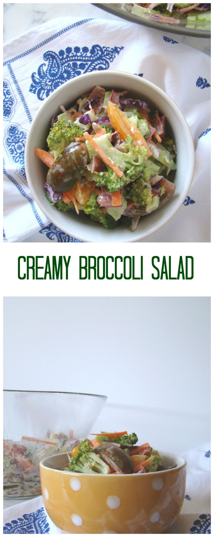 This Creamy Broccoli Salad has to be the perfect lunch or dinner idea. It's creamy, delicious and super easy to make.YUM!