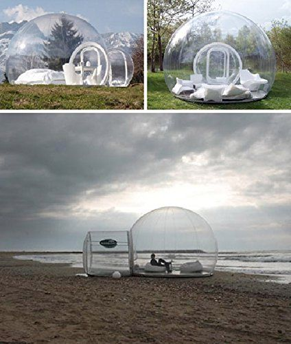 Inflatable Bubble Tent House Dome Outdoor Clear Show Room with 1 Tunnel for Camping for Photo: Amazon.co.uk: Kitchen & Home