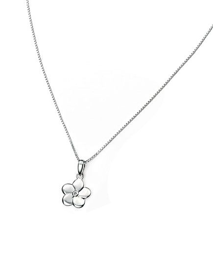 D for Diamond Child's Diamond Flower Necklace