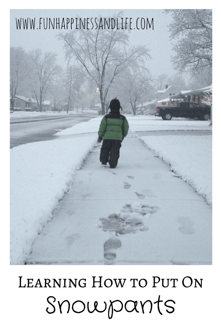 Learning how to put on snow pants is a necessary skill in the winter. Here are some ways to help so everyone can do it, even my son with Down syndrome.
